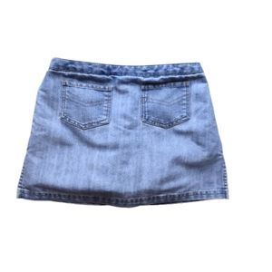 Old Navy Light Wash Denim Mini Skort 8